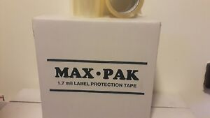 New Box Of 12 Rolls 6 Inches Clear Packing Label Protection Tape 1 7 Mil 6 x72