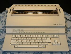 Brother Em 530 Electronic Typewriter Works Great see Photo Of Typed Page