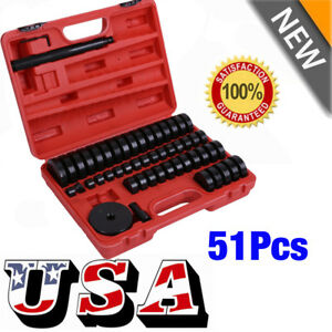 51pc Custom Bushing Bearing Seal Driver Push Press Disc Tool Set 18 65mm New Ouy
