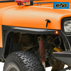 Eag 87 96 Jeep Wrangler Yj Front Fender With Flare And Led Eagle Lights