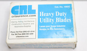 Lot Of 4 Pack Of 100 Crl Heavy Duty Utility Blades 1992c