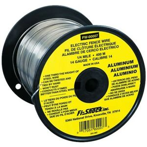 Electric Fence Contain Livestock Horse Conductor Spool 14gauge Aluminum Wire New