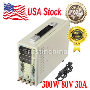 Dual Channel Adjustable Lcd Dc Electronic Load 300w 80v 30a Usa Fast Ship