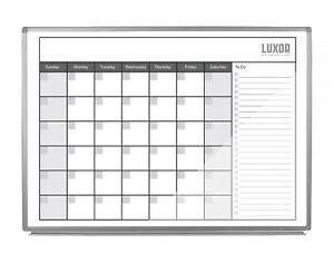 Offex 48 X 36 Wall Mount Magnetic Whiteboard Dry Erase Monthly Calendar