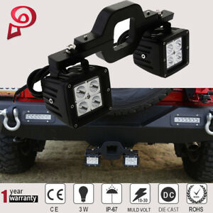 Trailer Tow Hitch Receiver Mount Bracket 3 Led Light Bar Reverse Offroad Truck