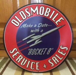 Oldsmobile Service Sales Motor Oil Gas Station Shop Garage Man Cave Texaco Mobil