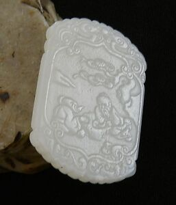 Nice Hand Carved Chinese Jade Pendant 102
