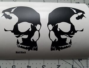 Skull Helmet 2 Skateboard Decals Skull 3 Motorcycle Helmet Decals Sticker