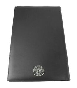 Ghurka Black 100 Leather Large 14 5 X 9 5 Notebook Pad Brand New Made In Usa