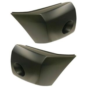 New Set Of 2 Bumper Face Bar Ends Extensions Front Driver Passenger Side Pair