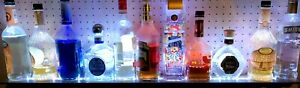 x2 Lot Of 2 42 Remote Ctrl Color Led Lighted Liquor Bottle Display Bar Shelf