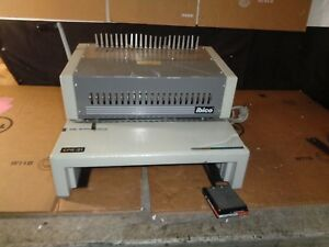 Ibico Epk 21 Electric Punch Plastic Binding Machine W Footswitch