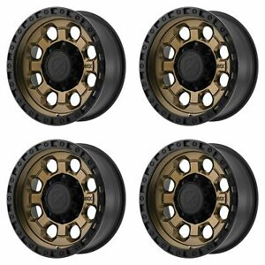 4x Atx Series 16x8 Ax201 Wheels Matte Bronze W Black Lip 8x6 5 8x165 10 0mm