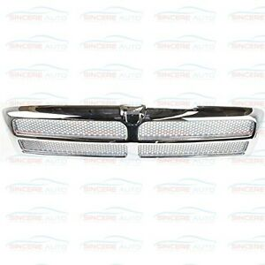 Ch1200178 Fits 94 02 Dodge Full_size Pickup Grille Chrome Silver