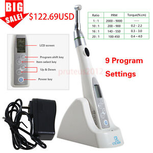 Dental Endodontic Endo Motor Cordless Reciprocating 16 1 Reduction Contra Angle