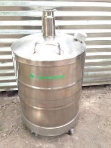 Cryofab Cryogenic 50 Liter Stainless Steel Liquid Nitrogen Container Tank Wheels