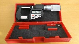 Tested Starrett 788 Rounded Carbide Anvil Digital Micrometer W case Excellent