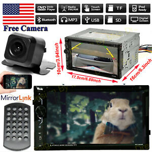 For 95 02 Chevy Tahoe C1500 Truck 2din Cd Dvd Bluetooth Car Stereo Radio camera