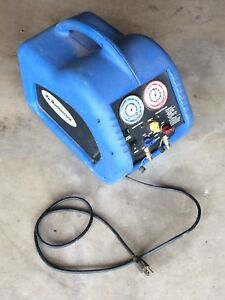 Mastercool 69000 Refrigerant Recovery System Used 1 2 Hp Oil less Compressor