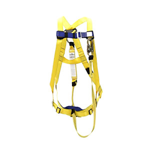 Ansi Compliant Safety Harness And 6 Ft Lanyard Kit Universal Fit Polyester Wed