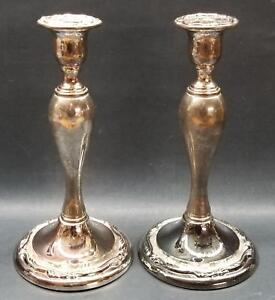 Awesome Set Of 9 5 Ornate Silverplate Candlesticks By Oneida Japan Elegant