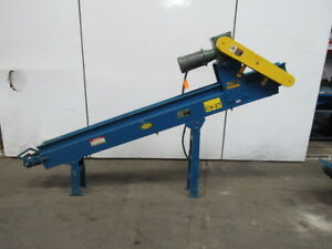 Hytrol Pc 4 X 108 oal Incline Cleated Parts chip Slider Bed Conveyor 63fpm