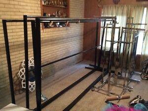4 Commercial Clothing Racks Heavy Duty Retail Store Pickup Only
