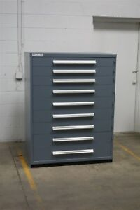 Used Vidmar 9 Drawer Cabinet Industrial Tool Storage 45 Wide 1224
