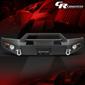 Replacement Offroad Front Bumper fog Light led Signal d rings For 14 17 Tundra