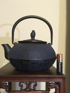 Antique Vintage Japanese Cast Iron Tetsubin Teapot Over 3 Lbs Marked