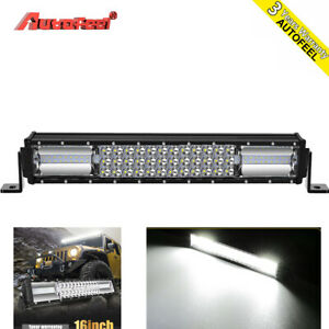 32 inch 3264w Led Work Light Bar Spot Flood Offroad Truck Suv Atv Pk 30 Tri row