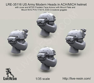 Live Resin 135 US Modern Heads in ACHMICH helmet with Cover