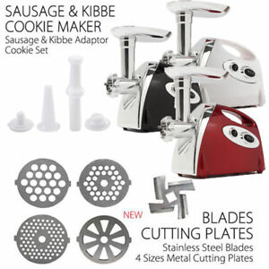 2800w Electric Meat Grinder Mincer Sausage Stuffer Luxury Stainless Steel Red