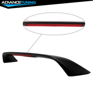 Fits 94 01 Acura Integra Coupe 3rd Brake Led Abs Trunk Spoiler Unpainted Black