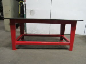 H d 5 8 Thick Top Steel Fabrication Layout Welding Table Work Bench 79 X 40