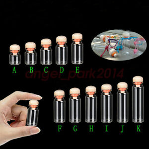 Pretty 4ml 20 Ml Dia 22mmmall Clear Bottles Glass Vials With Round Wood Cap