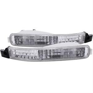 Anzo Parking signal Lights Chrome Clear For Honda Accord 92 93 511007