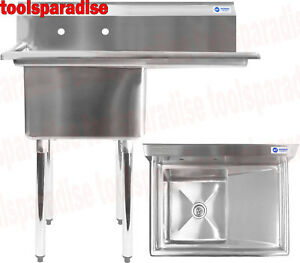Stainless Steel Restaurant Large Dish Washing Sink Basin Nsf Certified