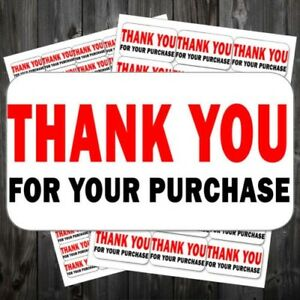 Thank You For Your Purchase Pre printed Self Adhesive Mail Stickers la acc