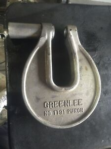 Greenlee 1731 C frame Hydraulic Knockout Driver No Punch Or Dies