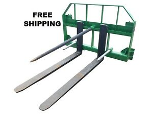 John Deere Combo 49 Spear And 48 Pallet Forks Jd Quick Attach Free Shipping