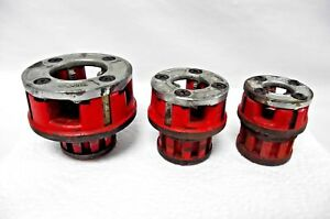 Lot Of 3 Rigid Pipe Threader Die Heads 3 8 1 2 1