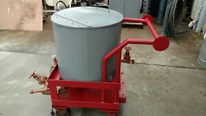 Stainless Steel Tank W Transfer Pump And Steel Rolling Cart 110v 50 Gallon
