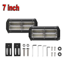 2x 7inch 288w Osram Led Work Light Bar Spotlight Driving Offroad Tractor 4wd 12v