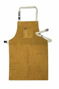 Fookay Leather Welding Apron Heat Resistant 24 Inch By 36 Inch With Adjustable
