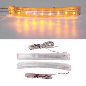 2pcs Universal 12v Car Auto 9 Amber Led Side Door Mirror Soft Turn Signal Light