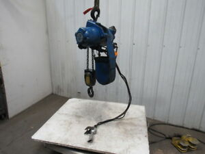 Gardner Denver P2ha44lplycga44 2 2 Ton 4400lb Pneumatic Chain Hoist 15 6 lift
