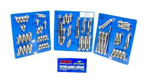 Arp Engine accy Fastener Kit 12 Pt Polished Ford Cleveland modified P n 554 9502