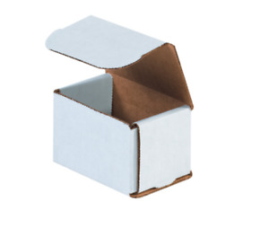250 Pack Strong Light Mailer 3 x2 x2 White Small Folding Mailing Corrugated Box