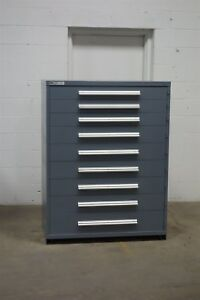 Used Vidmar 9 Drawer Cabinet Industrial Tool Storage 45 Wide 1232 Shop